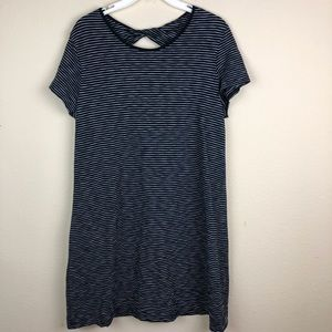 GAP | Striped Twist Back T-Shirt Dress - Sz Large